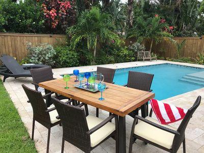 Photo for Relaxing Oasis with Private Heated Saltwater Pool and Tropical Yard. NOT SHARED!