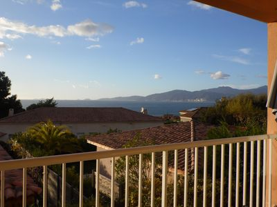 Photo for T3 duplex 4 pers beautiful sea view Iles Sanguinaires Agosta beach at 700m
