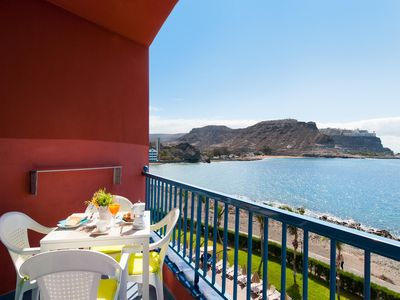 Photo for Beachfront Apartment in Playa del Cura with beautiful seaviews from its balcony
