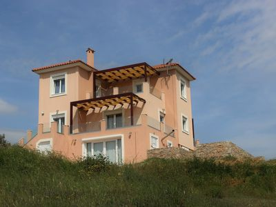 Photo for Villa Melilofos Panorama with fantastic view & near the beaches of Aegean Sea