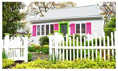 Photo for 2 Bedroom Cozy Charmer, Beach Block...90 Steps to the Bay with ample parking