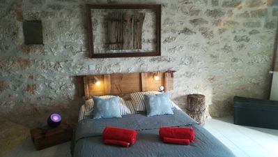 Photo for cottage white stone quercy, with a nice bread oven as a terrace