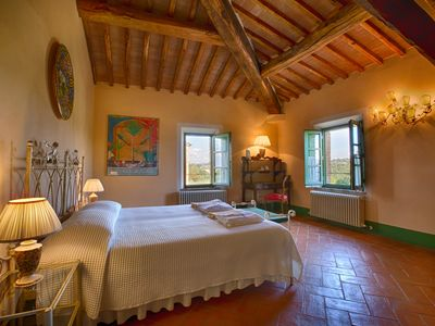 Photo for PODERE SALICOTTO - ARANCINO Stylish Comfort Double Bedroom - Tuscan Villa w/view