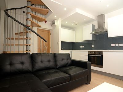 Photo for Cosy modern New Work Loft style City Centre apartment w Grade 2 listed building character