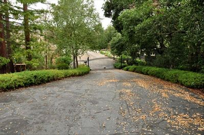 The gate and private drive provide security and privacy.