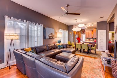 Large open floor plan.  Great for families and entertaining.  Plenty of room!!