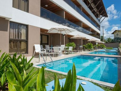 Photo for CPG02 Flat with private pool in Porto de Galinhas, near the natural pools.