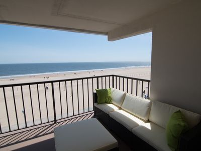 Photo for Large Private Balcony Overlooking the Beach - Boardwalk - Oceanfront!