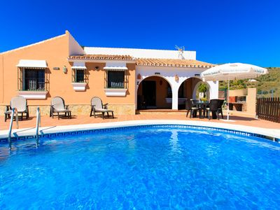 Photo for This 3-bedroom villa for up to 6 guests is located in Torrox Costa and has a private swimming pool,