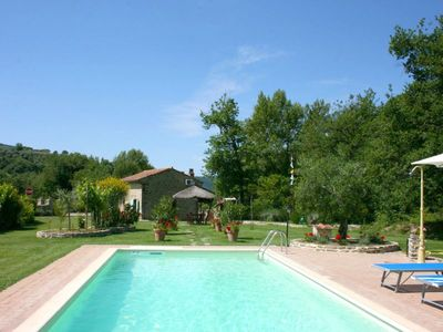 Photo for Romantic, totally private small cottage. Wi-fi, pool, garden, quiet. Perfect for honey moon.