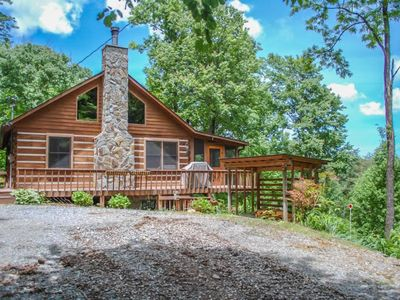 Photo for Bare-N-The-Woods- 3Br/2.5 Ba- Log Cabin With Awesome Views Of Lake Blue Ridge And The Blue Ridge Mou