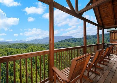 Breathtaking view from the deck.