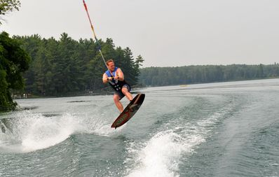 Wakeboard.  Ski.  Surf.  Tricks anyone? Calm waters available always.