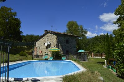 Beautiful old Millhouse with private pool and riverside location