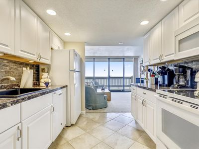 Photo for Panoramic Ocean Views from Your Balcony - Oceanfront with Pool in North OC!