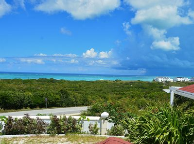 Spectacular ocean view of Grace Bay from villa.