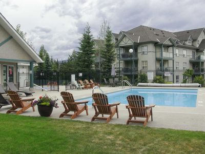 Photo for Radium Hot Springs Condo w/ Mtn Views from Patio!