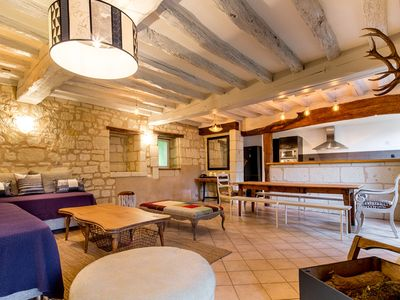 Photo for HOUSE TROCHET - 3 BEDROOMS - SWIMMING POOL - EDGE OF LOIRE (6 TO 11 PERSONS)
