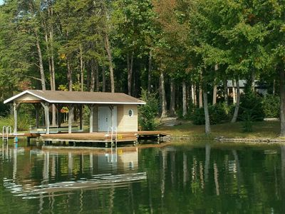 Photo for Camp Kirby beautiful waterfront home on the Public Side of Lake Anna with deep water