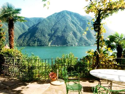 Photo for Comfort-villa Castagnola-near lake,aircondition,park,shared indoorpool,lakeview