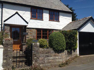 Photo for Period Cottage with large garden in lovely Georgeham