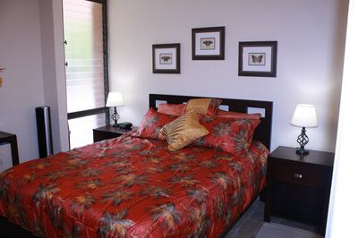Bedroom is nicely decorated and offers a new comfortable queen bed