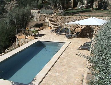Photo for Beautiful 2 bed renovated stone house with stunning views and private pool