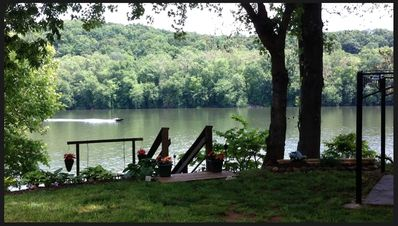Private Waterfront Deck with swing goes with rental