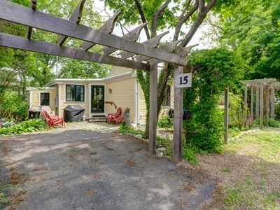 Photo for NEW LISTING! Quaint getaway w/ kitchen & lush yard - near beach & town, dogs OK!
