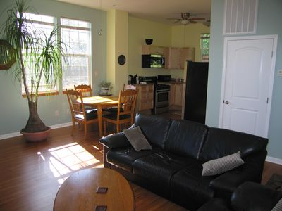Our guest apartment is spacious with many windows providing natural light
