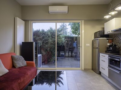 Photo for Beautiful 2 rooms air-conditioned with garden-terrace and collective swimming pool