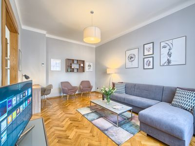 Photo for Bright And Spacious Historical Two-Bedroom Apartment | Dusni