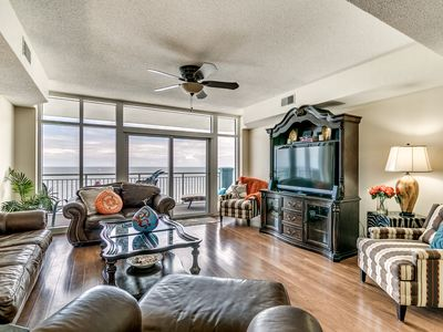 Photo for Summer Deal!!! Luxury 4 Bdrm Condo Ocean Front! Wonderful Furnishings.