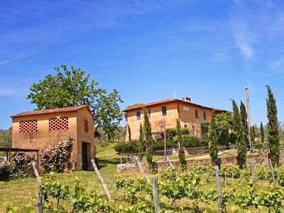 Photo for Feriale I. Charming family stays with pool and garden over organic vineyards