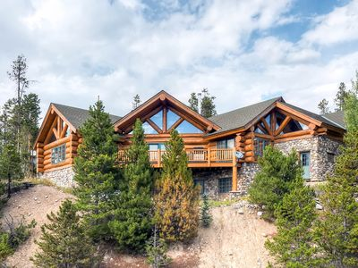 Photo for Epic 4BR/4.5BA Log Cabin w/ Hot Tub, Sauna, & Billiards Room - Skiing Nearby