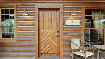 Photo for Madison – Cozy Log Cabin in the Madison River Valley w/ Shared Outdoor Pool