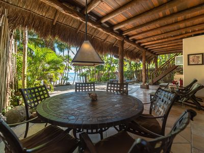 Photo for 5 or 6 BR Soliman Bay beachfront Home, AC Wifi Kayaks, Close to Tulum.
