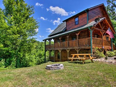 Photo for NEW! Cabin w/Hot Tub, Fire Pit - 6 Mi to Dollywood