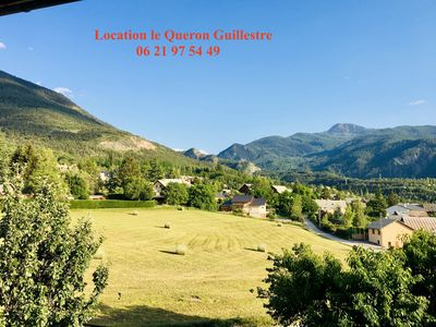 "Photo for Guillestre ""Location Le Queyron"" Wifi, TV, Parking, Balcony, Superb quiet view"