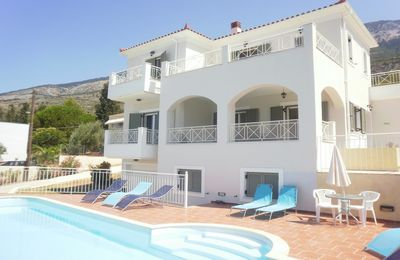 Photo for Large Villa with Pool, 180° Sea View in Great location, Spacious for 6