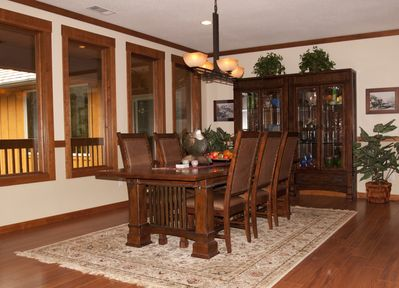 Large dining room easily seats 8 comfortably
