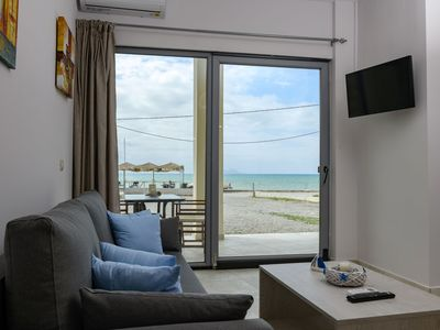Photo for Apartment located on the coastline of Kokkinos Pirgos with sea and beach view.