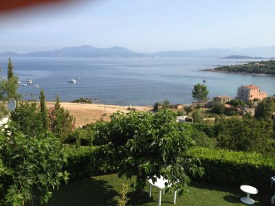 Photo for Custom-built, Large Villa 150m from the sea with private pool and majestic views