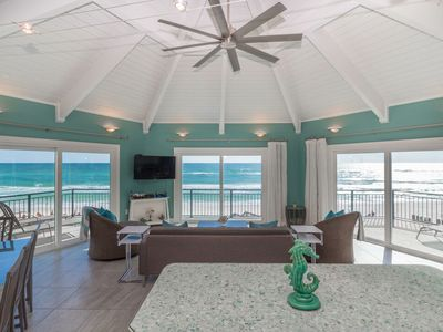 Photo for Paradise30a~Nifty Shades of Gray, Gulf Front Home, Renovated, 4 Bikes, Beach Chairs Included