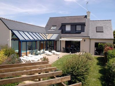 Photo for 6 bedroom Villa, sleeps 10 in Moëlan-sur-Mer with Pool and WiFi