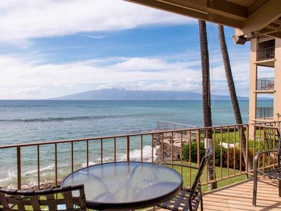 Photo for Oceanfront - Honokowai - 20 Feet to Ocean - Perfect spot for whale watching and sunsets!