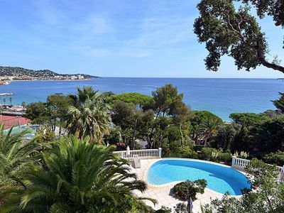 Photo for Studio apartment 796 m from the center of Sainte-Maxime with Internet, Pool, Air conditioning, Terrace (379055)