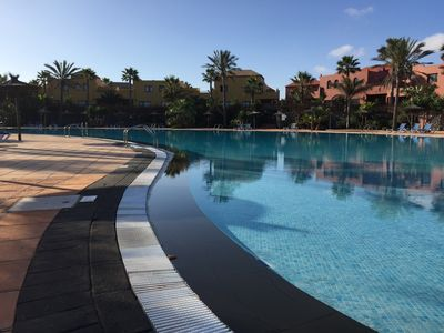 Photo for Apartment in beautiful palm plant and large pools with private terrace