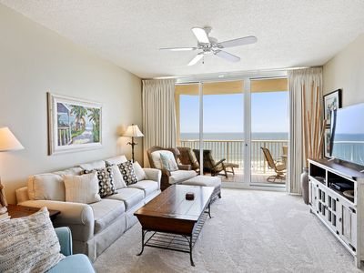 Photo for Gulf Front, Sleeps8, ALL 5-Star Reviews,Private Balcony,FoodTrucks,Tennis,Bikes