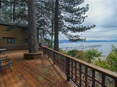 Photo for Lake Front Tahoe Vista Cabin with Classic Tahoe Charm!
